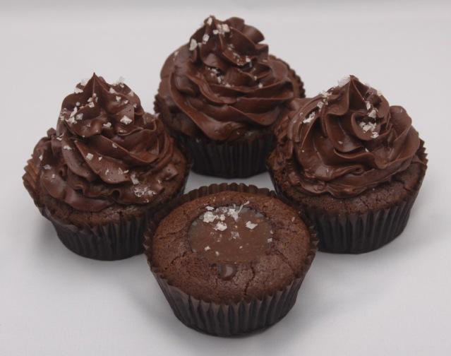 Chocolate Salted-Caramel Cupcakes