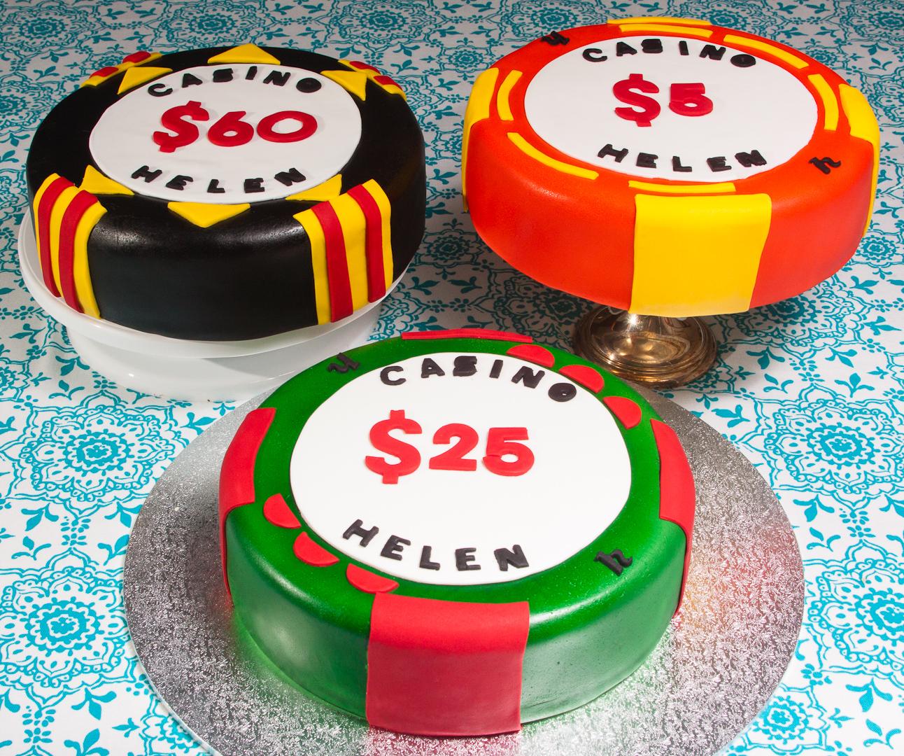 Casino Chips Cake Fiona Poole