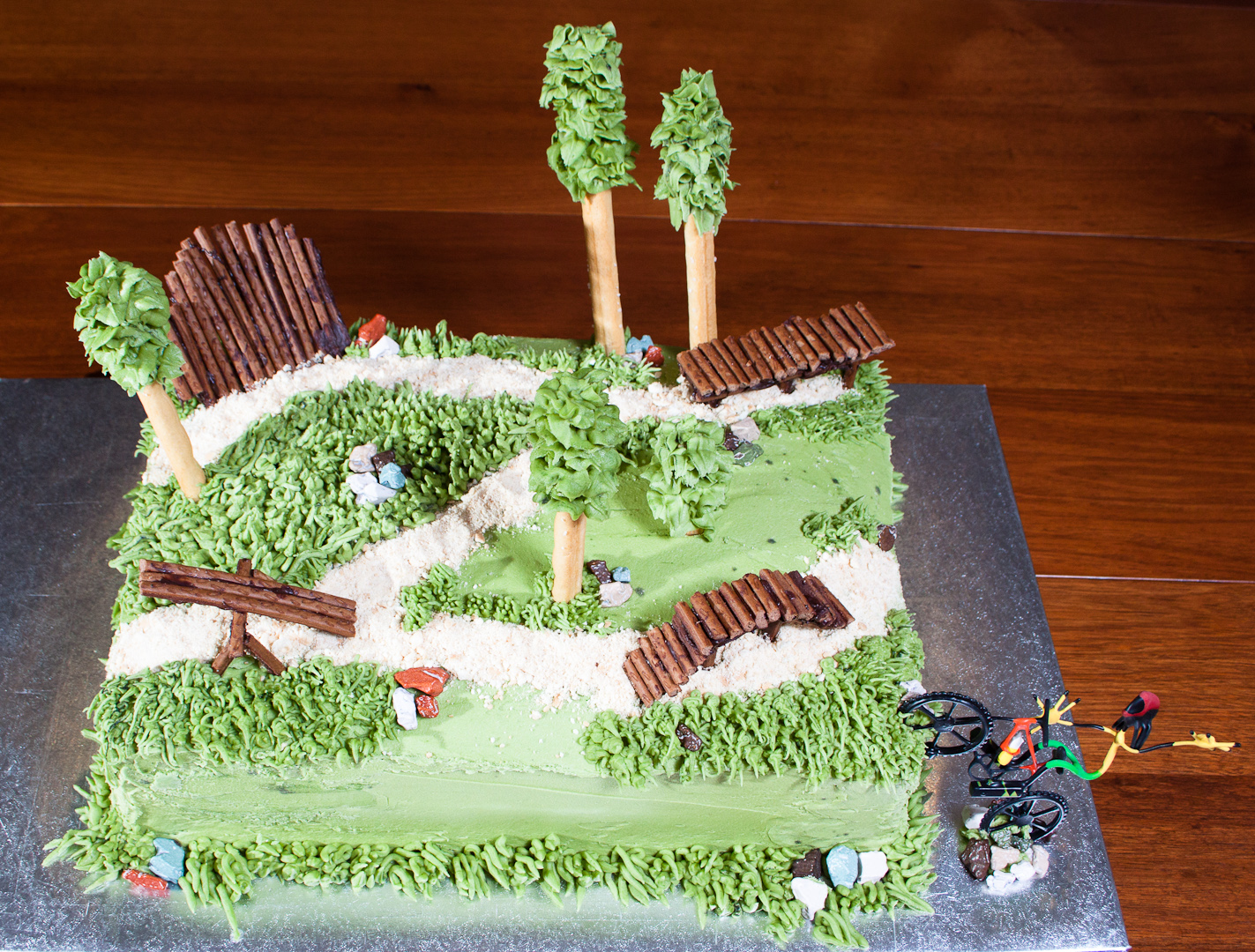 Parkour Birthday Cake