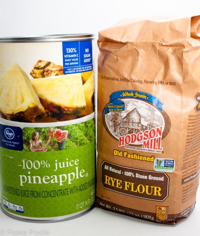 Ingredients for sourdough starter