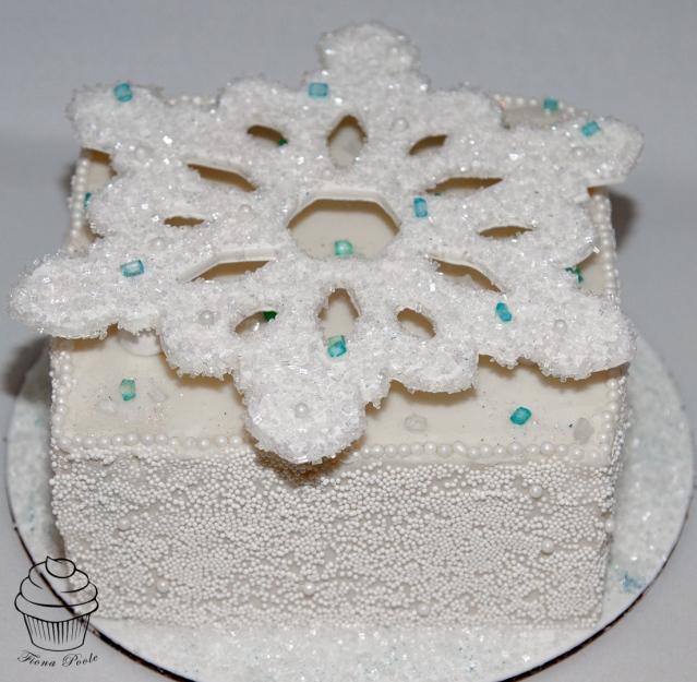 Snowflake cake-2