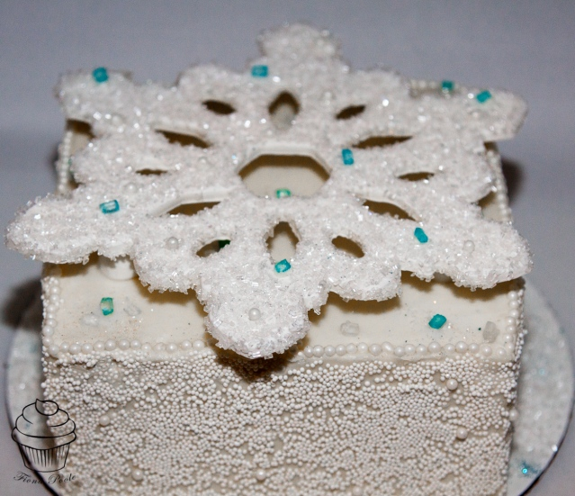 Snowflake cake-4